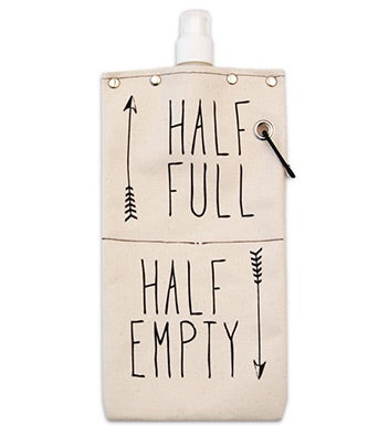 Half full Half Empty wine/beverage canteen