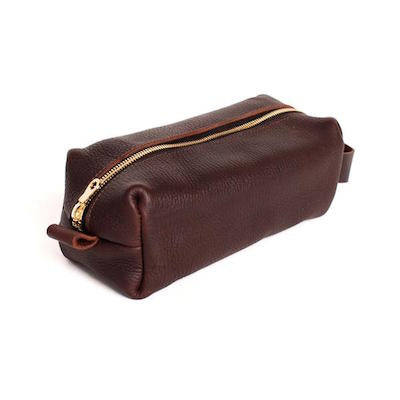 Leather Dopp Kit \\ Parker Clay