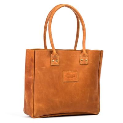 Merkato Signature Leather Tote {Parker Clay}