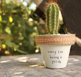 Mini Succulent Pun Planters {PlantPuns} - Makers-and-Goods