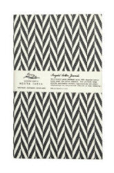 Uzma: Recycled Cotton Travel Journal Black Tribal Print {Raven + Lily}