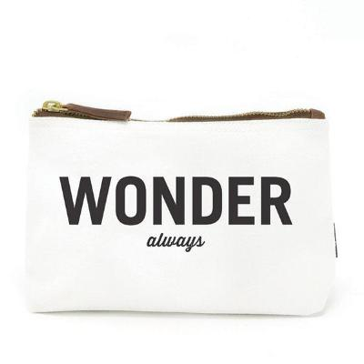 Wonder Always Wander Often Canvas Pouch {Maika}