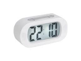 Karlsson White Gummy Alarm Clock