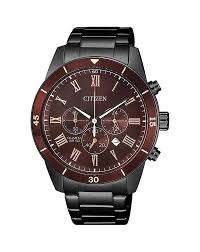 Gents Black Citizen Chronograph with Red Bezel and Dial Watch AN8167-53X