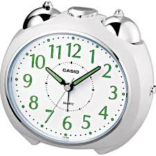 Casio Bell Alarm Clock White