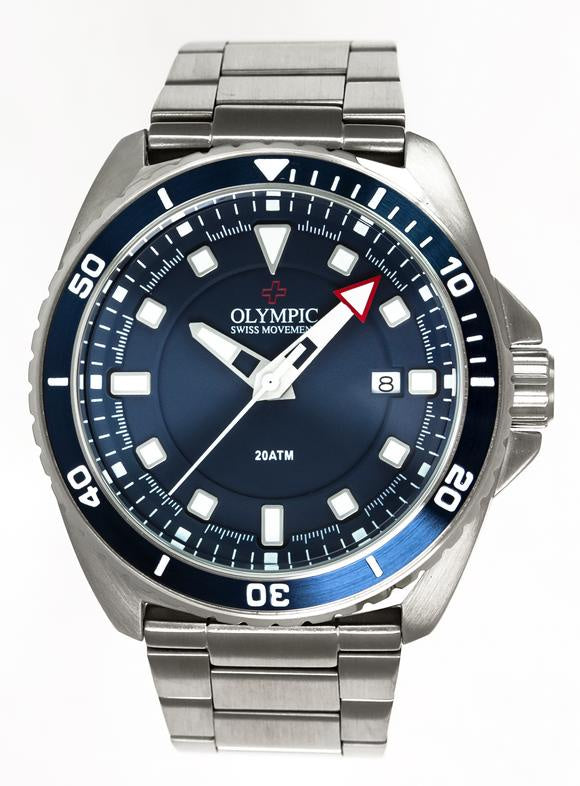 Olympic Aquanaut Stainless Steel Blue Dial Metal Band 200M