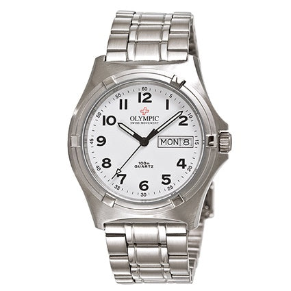 Gents Olympic Work Watch White Full Fig