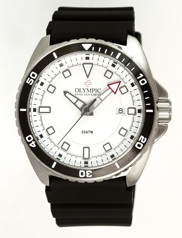 Olympic Aquanaut Stainless Steel White dial Watch 200m