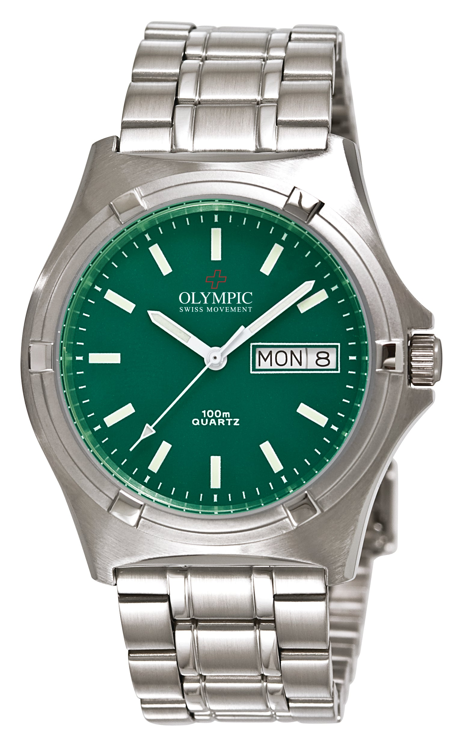 Gents Olympic Work Watch Green Dial