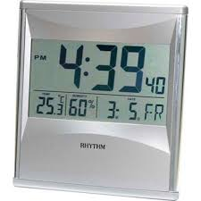 Rhythm Digital Wall Table LCD Clock