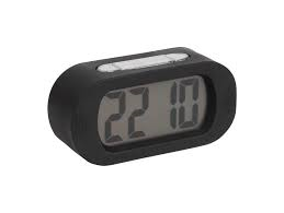 Karlsson Black Gummy Alarm Clock
