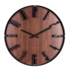 Karlsson Sentient Dark Wood Wall Clock