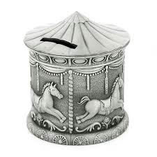 Pewter Horse Carousel money Box