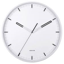 Karlsson Dipped White/Black Wall Clock