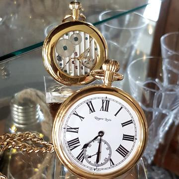 Regent Louis R/G Pocket Watch with Skeleton Back
