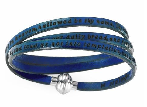 Lord's Prayer' Leather Bracelet