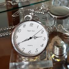 Stainless Steel Regent Louis Quartz Pocket Watch