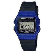 Casio Digital Watch Blue case Black Band