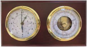 Fischer Mahogany Time & Tide and Barometer Set