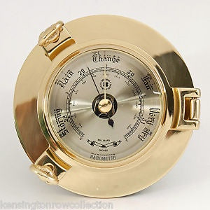 Brass Porthole Barometer 85mm