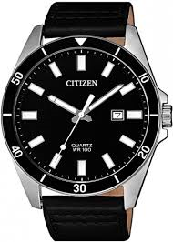 Gents Citizen Watch on Black Leather Strap