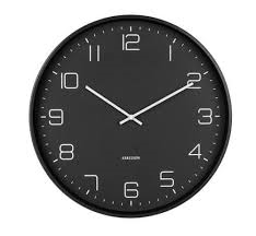 Karlsson Lofty Black Wall Clock