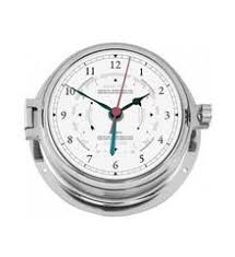 Chrome Nautic Tide Clock 160mm