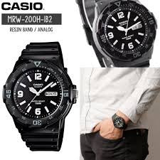Casio White and Black Analogue Watch MRW-200H-1B