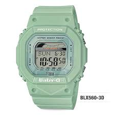 Casio Baby G Sage Green Digital Tide Graph Watch