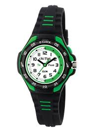 Cactus Black and Green Time Teacher Watch CAC-116-M01