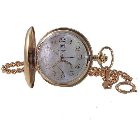 Retrograde Rose Gold Pocket Watch