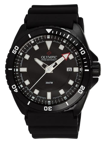 Olympic Aquanaut Black Case Divers Watch 200m
