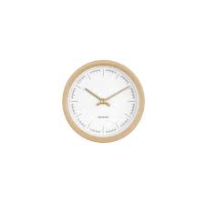 Karlsson Dense Rubberized Sand Brown Wall Clock