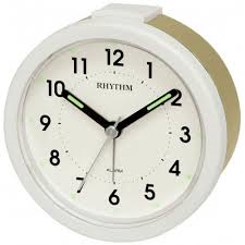 Rhythm Alarm Clock Gold Case