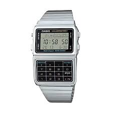 Casio Classic Databank Calculator Stainless Steel Watch