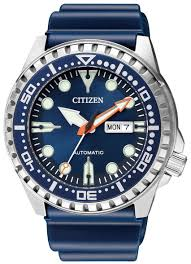 Gents Stainless Steel Blue Citizen Divers Automatic Watch