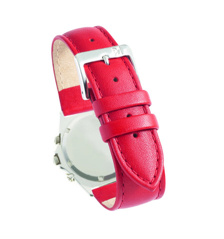 Genuine Calf Leather - Red