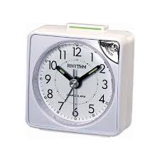 Quartz Alarm Clock White