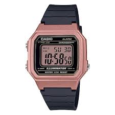 Casio Black and Rose Gold Digital Watch