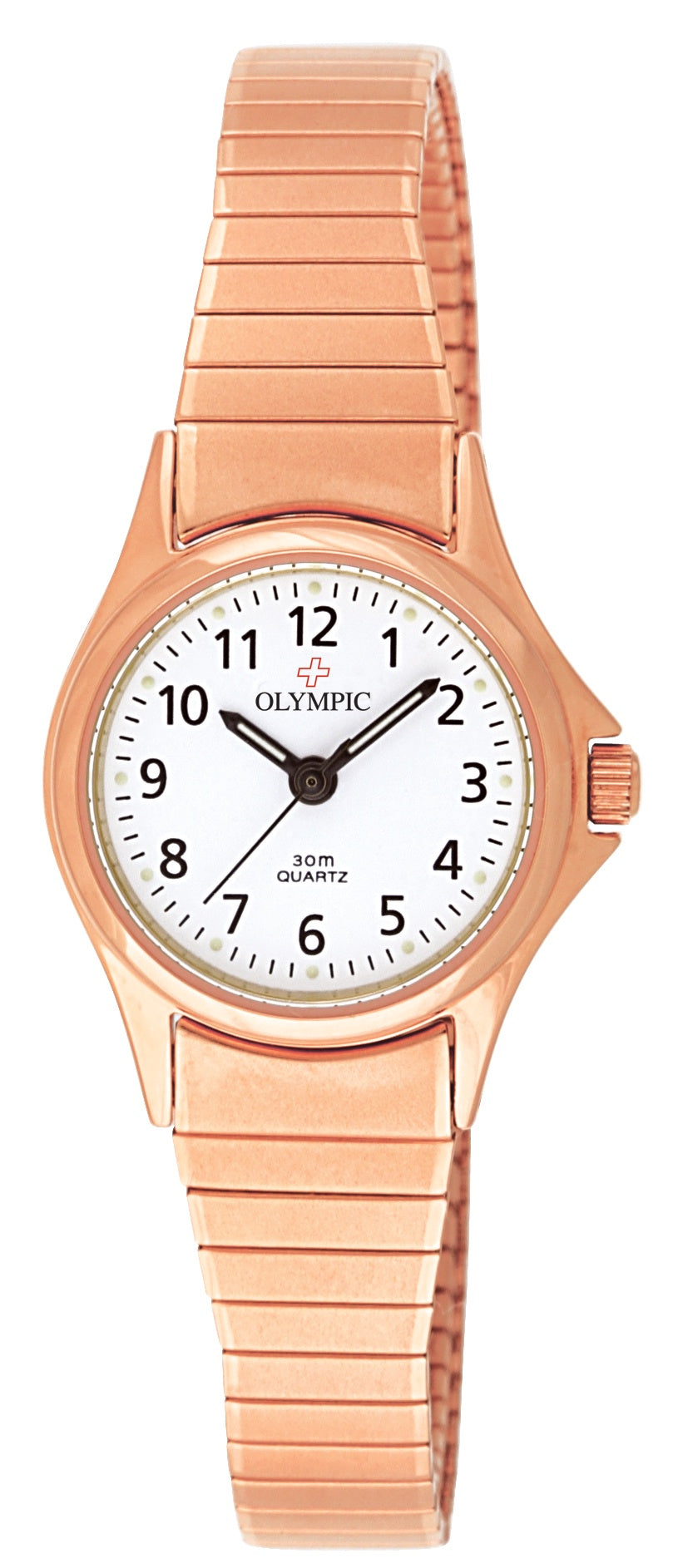 Ladies Olympic Rose Gold Expanding Band Watch