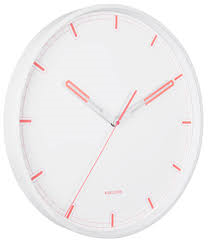 Karlsson Dipped White/Coral Wall Clock