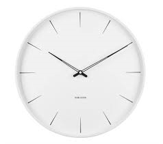 Karlsson White Lure Wall Clock