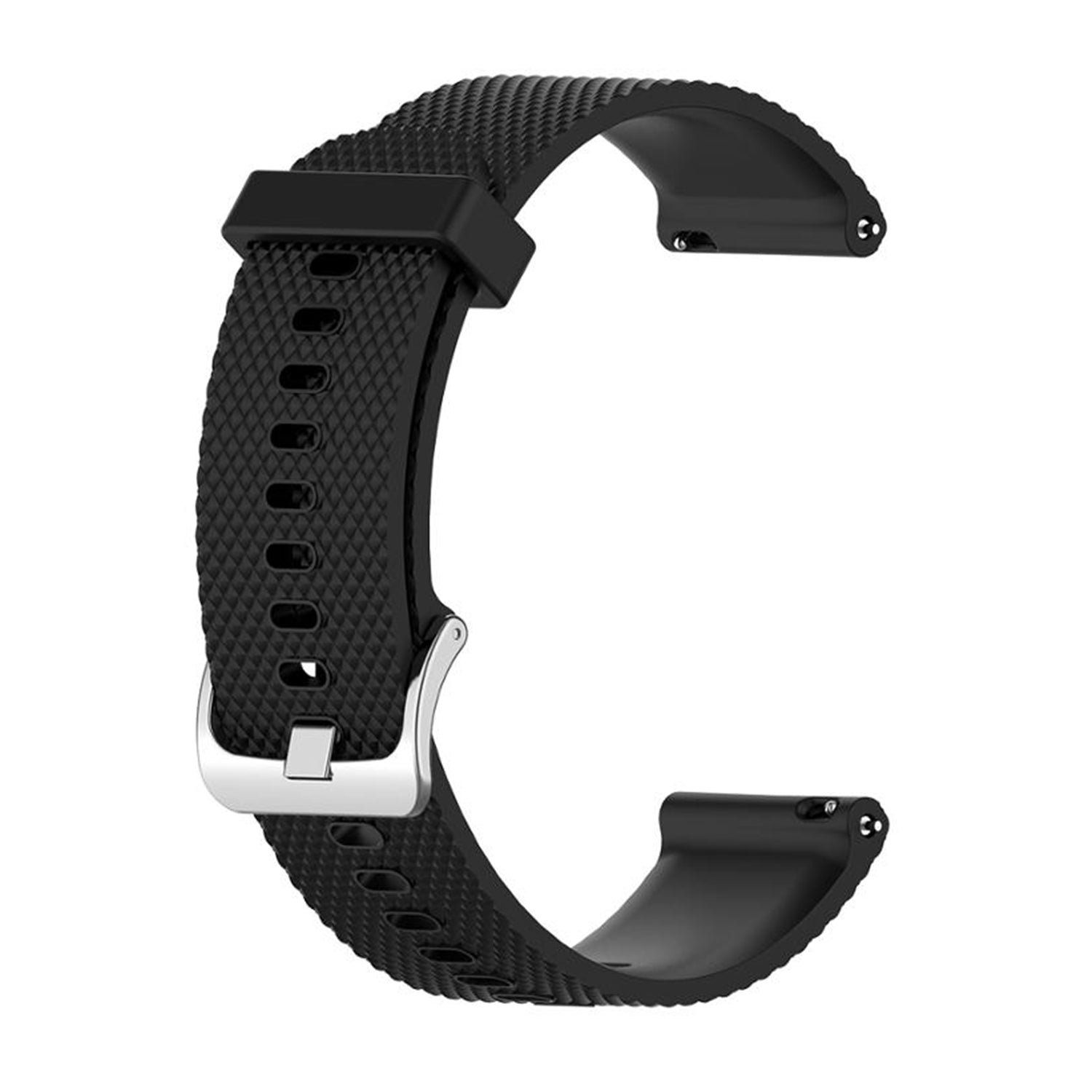 22mm Silicone Band Black - Samsung, Garmin