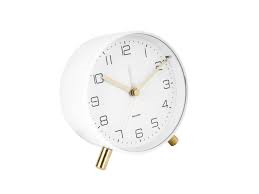 Karlsson Lofty White Alarm Clock