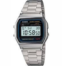 Casio Stainless Steel Digital Watch A158