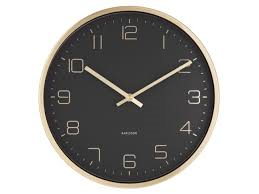 Karlsson Gold Elegance Black Dial Wall Clock
