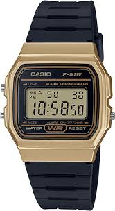 Casio Vintage Gold and Black Watch F91WM-9A