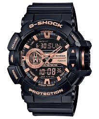 Casio G Shock Black and Rose Gold Rotary Watch