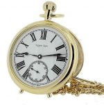 Gold Finished Self Standing Mechanical Pocket Watchwatch