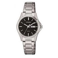 Ladies Stainless Steel Black Dial Citizen Watch